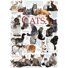 Пазл Cobble Hill, 1000 элементов - Породы кошек