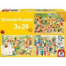 Пазл Schmidt, 3х24 элемента - В детском саду