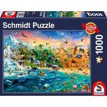 Пазл Schmidt, 1000 элементов - Царство животных
