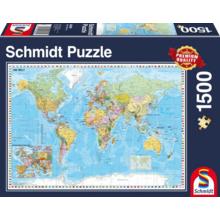 Пазл Schmidt, 1500 элементов - Карта мира