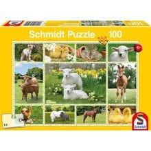 Пазл Schmidt, 100 элементов - Домашние животные-коллаж