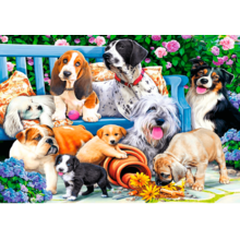 Пазл Trefl, 1000 элементов - Собаки в саду