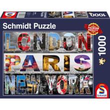 Пазл Schmidt, 1000 элементов - Лондон.Париж. Нью-Йорк