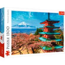Пазл Trefl, 1500 элементов - Вид на гору Фудзияма