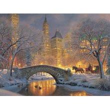 Пазл Cobble Hill, 500 элементов - Зимний парк в городе