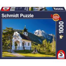 Пазл Schmidt, 1000 элементов - Часовня в Баварских альпах