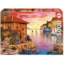Пазл Educa, 5000 элементов - Средиземноморская гавань, Доминик Дэвисон