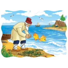 Пазл Castorland, 30 элементов - Сказка о рыбаке и рыбке