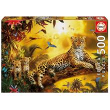 Пазл Educa, 500 элементов - Леопард и его детеныши