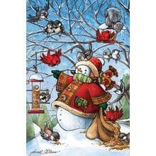 Пазл Cobble Hill, 1000 элементов - Снеговик кормит друзей