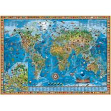Пазл Heye, 2000 элементов - Географическая карта Земли