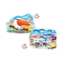 Пазл Castorland, 2 в 1 (9,15) элементов - Аэропорт