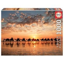 Пазл Educa, 1000 элементов - Закат на пляже Кейбл-Бич, Австралия