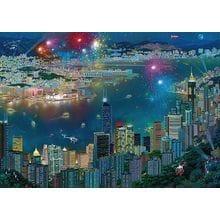 Пазл Schmidt, 1000 элементов - А.Чен Фейерверк в Гонконге