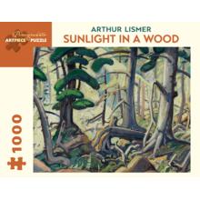 Пазл Pomegranate, 1000 элементов - Артур Лисмер: Солнечный свет в лесу